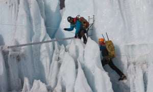 Two climbers featured in Sherpa.