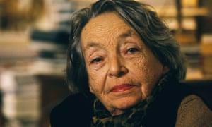 Marguerite Duras in her apartment on Rue Saint-Benoit in Paris.