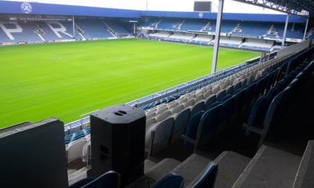 Speakers are placed strategically around Loftus Road to give the most accurate sound.