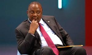 Kenya's President Uhuru Kenyatta attends the Generation Equality Forum