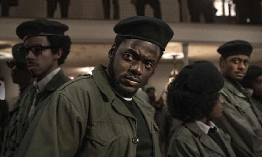 Daniel Kaluuya, centre, and Lakeith Stanfield, far right, in Judas and the Black Messiah.