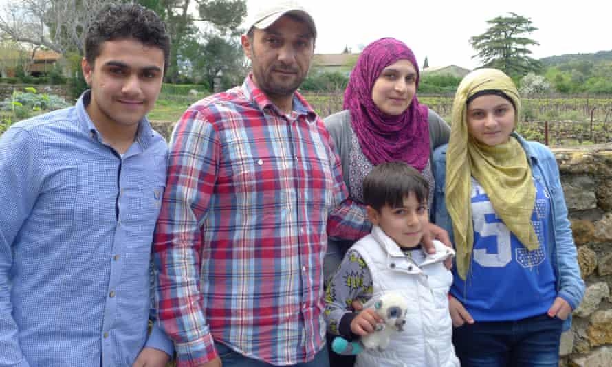 The Al Efi family (left to right): Hisham, Malek, Houman, Khaldieh and Fata.