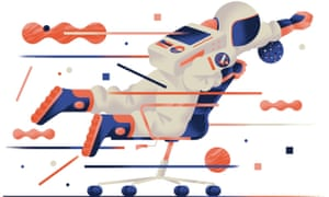 Illustration of astronaut on chair