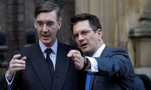 Jacob Rees-Mogg (left) with Steve Baker, who have both said they have written to Sir Graham Brady.