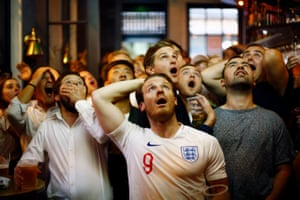 England fans watch the World Cup match between Croatia and England in Trafalgar Square, London, on 11 July 2018