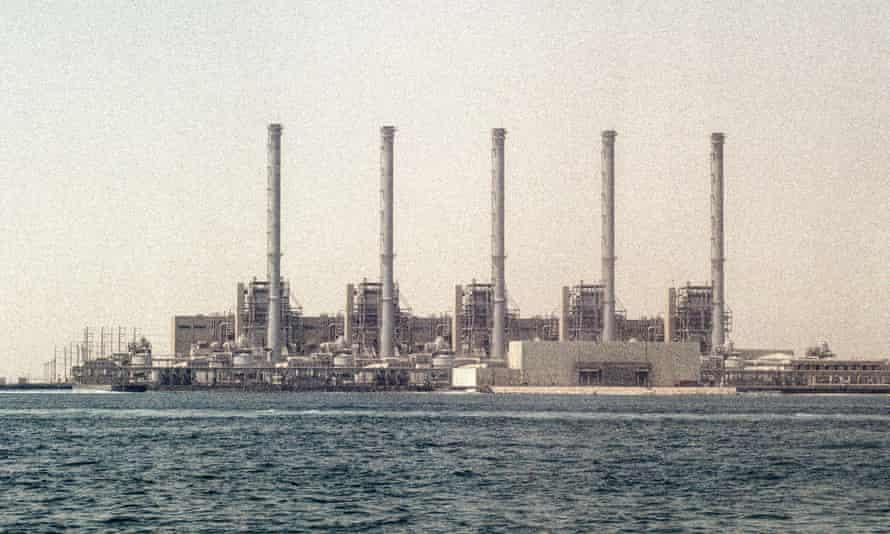 A desalination plant by the Persian Gulf in Al Khobar, Saudi Arabia.