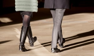 Man and woman in step, London