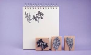 Noolibird garden herb rubber stamps