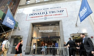 The Donald J Trump Presidential Twitter Library in New York.