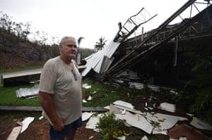 Dave McInerney on the other side of his demolished motel