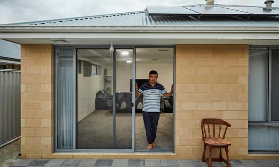 'It is peaceful here. Always': Naser Ahmadi at his home in Perth.
