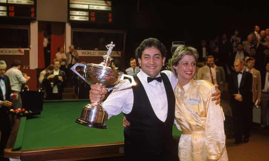 Joe Johnson celebrates after winning the world title in 1986.