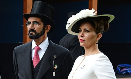 Sheikh Mohammed and Princess Haya pictured at the 2016 Derby.