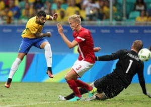 Gabriel Barbosa of Brazil bags the fourth goal.