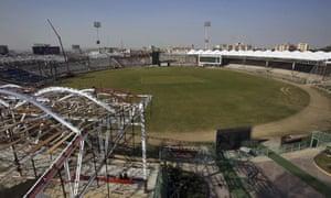 The Gaddafi stadium in Karachi