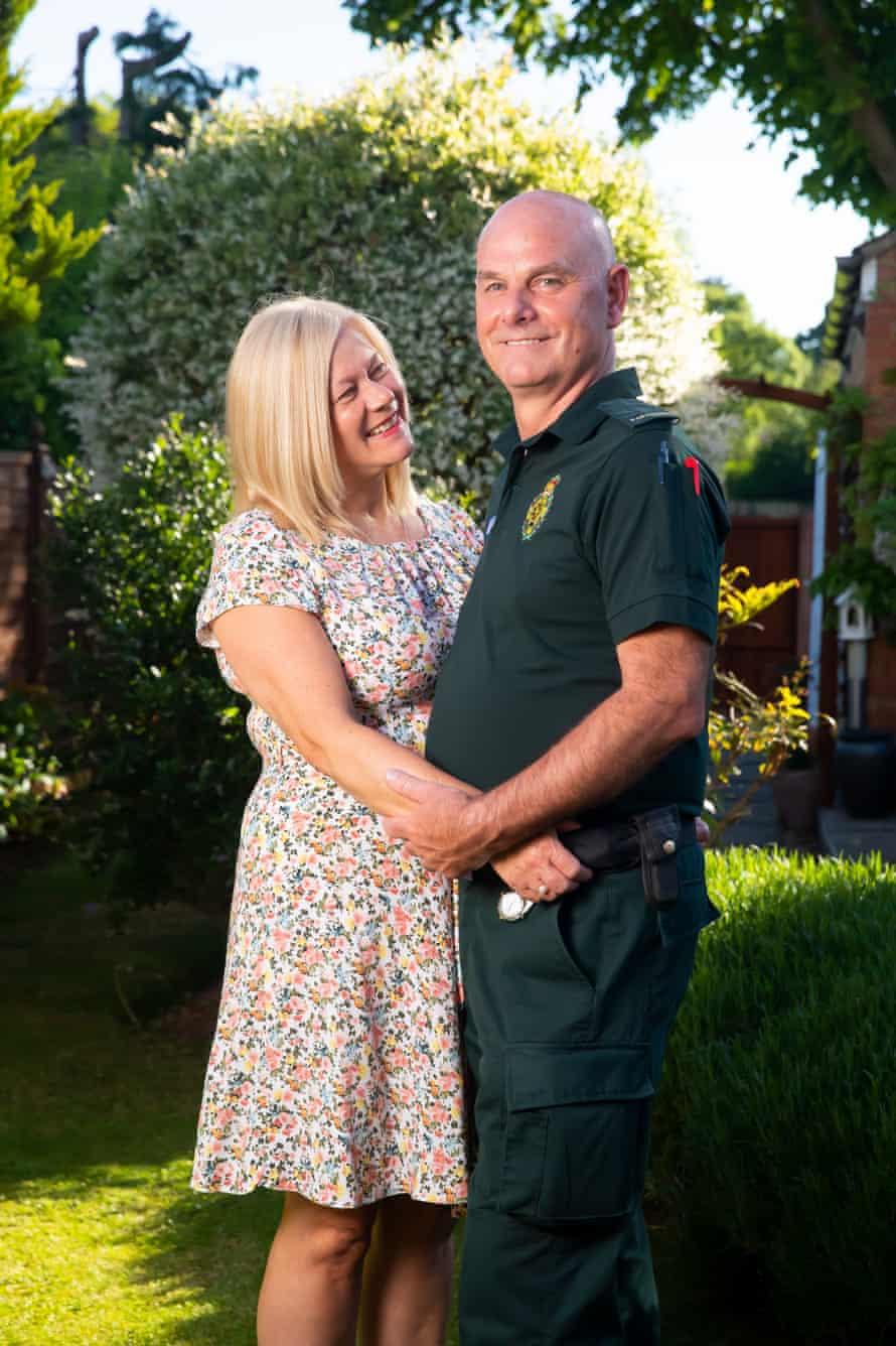 Kathy and Mark Anders. Mark, who is a local paramedic, spent a week in hospital with Covid-19 before making a full recovery.