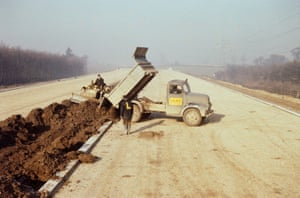 Workers constructing M1