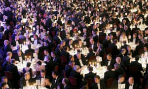 Spot the woman … the CBI's annual dinner, 2010.