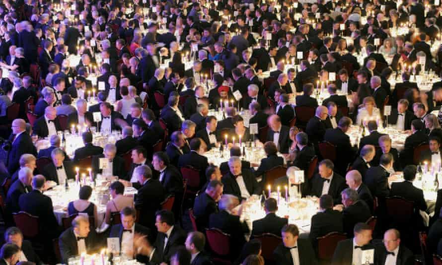 Spot the woman … the CBI's annual dinner, 2010.