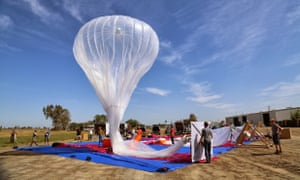 The balloons, once in the stratosphere, will be twice as high as commercial airliners and barely visible to the naked eye.