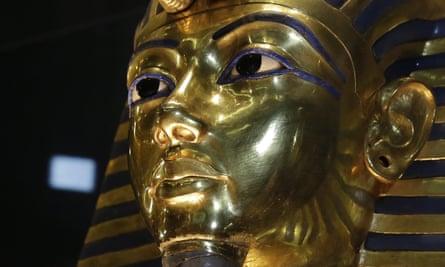 The gold mask of King Tutankhamun.