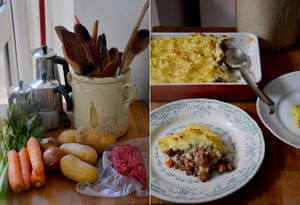 Rachel Roddy's cottage pie: with onions from central Asia, carrots from south-west Asia , potatoes form Peru...