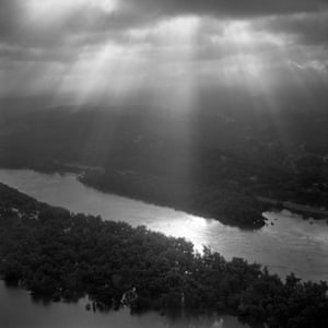Morning light shines over the Mississippi river near Vicksburg, as the river's water crests during the flood of 2011