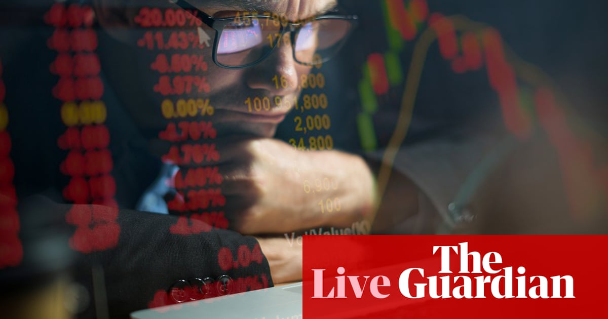 Stock markets fall back as growth fears rise - business live - The Guardian