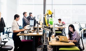 The Slack offices in San Francisco. 'How often is there deep collaboration on email - that weird overlapping feeling of ideas and iteration and design thinking?' says user researcher Leah Reich.