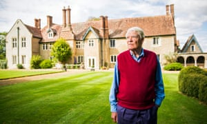 Christopher Prideaux, Lower South Farm, near Quainton, Bucks, outside the grade II* listed house, which has been owned by his family for 500 years. HS2 will cut through his land.