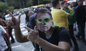 Supporters of far-right presidential candidate Jair Bolsonaro in Sao Paulo, Brazil.