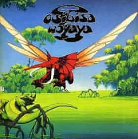 Roger Dean's flying elephant for the album Woyaya.
