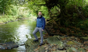 Dean Blackwood stands by the River Faughan