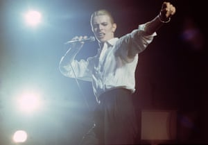 David Bowie in 1976.