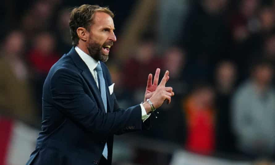 Gareth Southgate tries to get his message across at Wembley where his England team foundered against a disciplined Hungary.