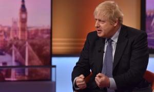 Boris Johnson on The Andrew Marr Show.