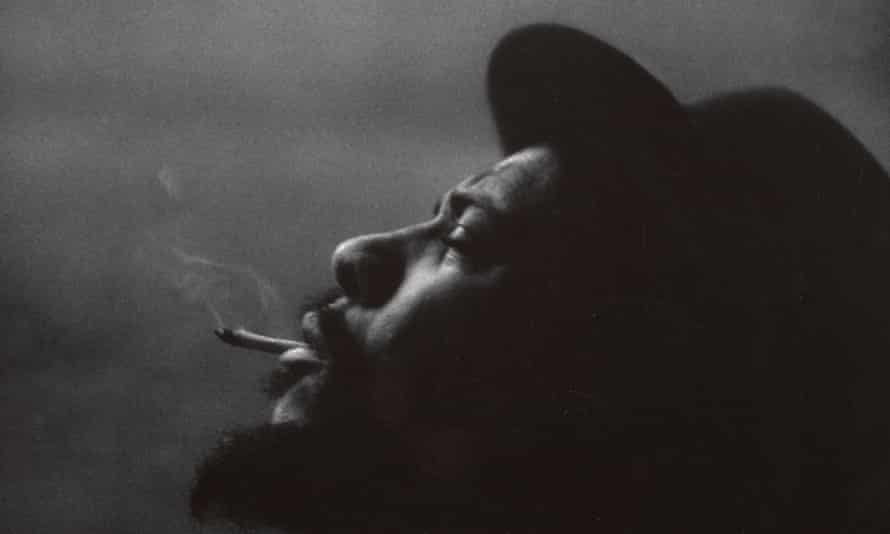 Thelonious Monk, photographed at Hall Overton's loft in New York in 1959