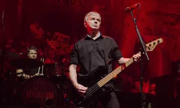 Burnel at a Stranglers gig in Paris in 2019.