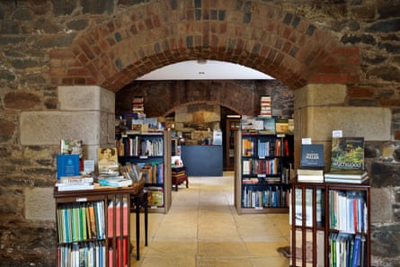 An interior shot of the Book Cellar in Tasmania's midlands.