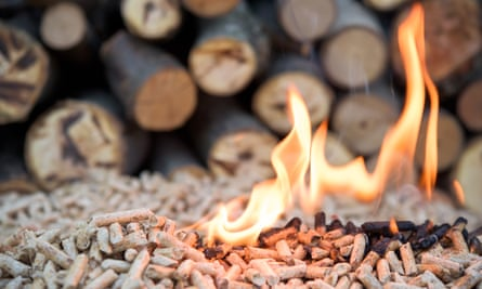 lit biomass pellets