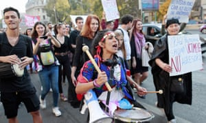 Up to one thousand people attended the march entitled 'Together for Women's Safety' in Bucharest showing their solidarity with the women who have been victims of violence.