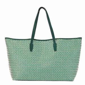 green raffia tote bag Rae Feather