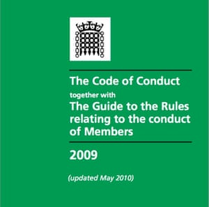 Code of conduct for MPs