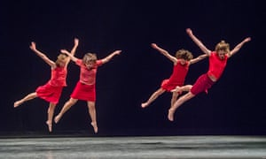 Nakedly emotional … Lyon Opera Ballet perform work by Maguy Marin during Trois Grandes Fugues at Sadler's Wells, London.