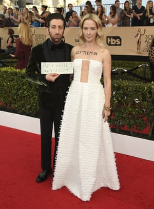 Simon Helberg and Jocelyn Towne at the Screen Actors Guild awards