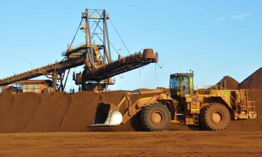 Iron ore operations in the Pilbara region of Western Australia