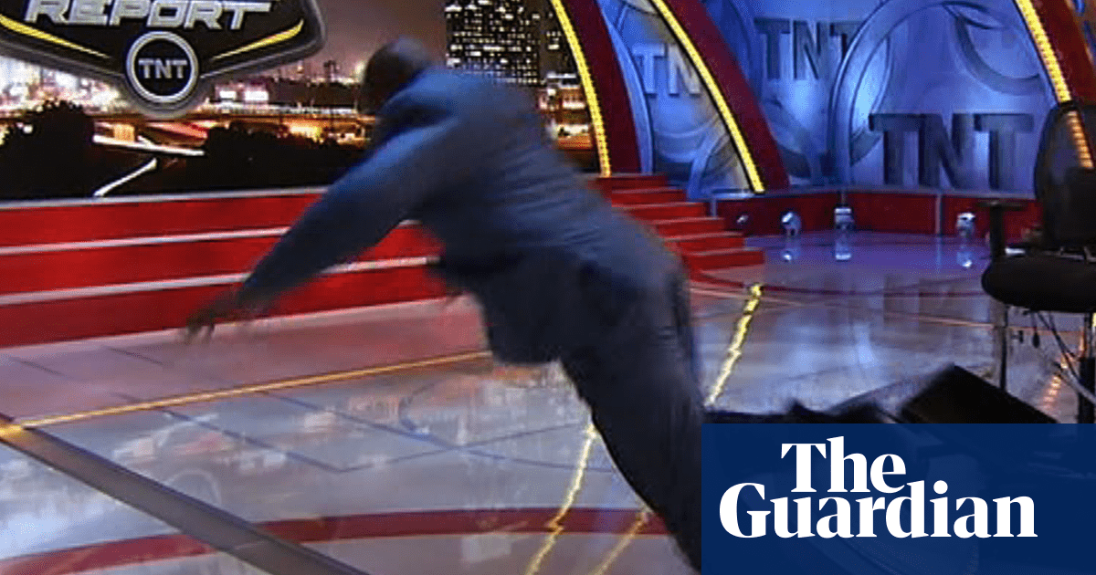 TV studio tumbles, cyclists v puddles and hypnotised footballers | Classic YouTube