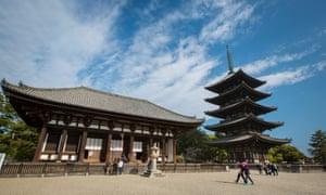 Kofukuji shrine and pagoda.
