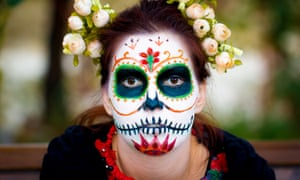A woman celebrates the Day of the Dead in Mexico