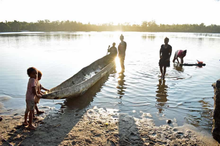 Boat at Andranokoditra village, Pangalanes. Madagascar